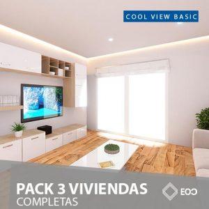 PACK 3 VIVIENDAS COMPLETAS